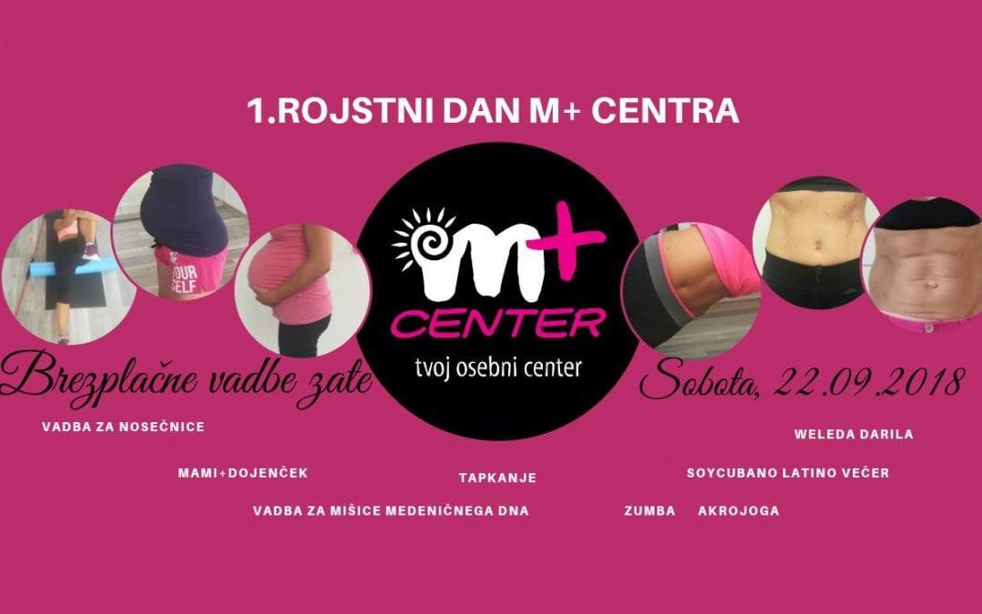 M+ center praznuje rojstni dan: Brezplačno druženje in vadbe
